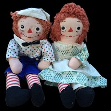 Georgene Raggedy Ann and Andy Dolls Clean! 16""