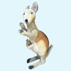 "20"" Steiff  Vintage Kangaroo with Joey excellent!"
