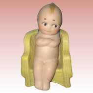 Antique Rose O'Neill Bisque Action Kewpie in Chair