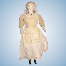 """12"""" antique Parian Doll with fancy Shoulderplate"""
