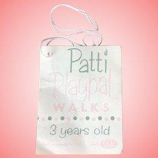 Ideal Patti Playpal Original Tag