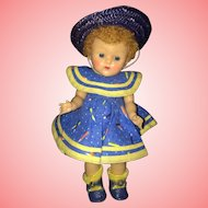 Gorgeous high color Poodle Cut Vogue Ginny doll All Original 1950's