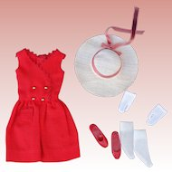 Skipper Doll Red Sensation Outfit Complete Near Mint! 1960's