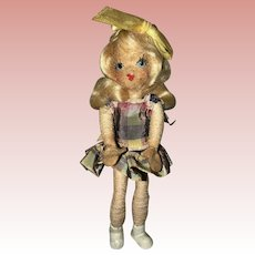Vintage tiny town doll