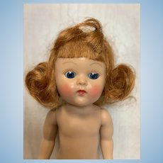 Vogue Ginny 1950's Strung Doll Great Coloring, Redhead