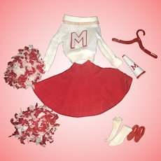Vintage Barbie Cheerleader Outfit Near Mint Complete!!!