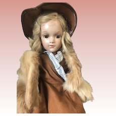 """17"""" Arranbee Debuteen All Original with Fur Coat and Hat, Gorgeous!"""