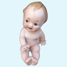 All Bisque Antique Baby Figurine Bavaria