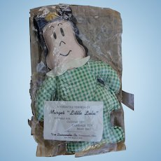 "Rare 1940's 10"" Little Lulu bean bag Doll with Paperwork  Mint"