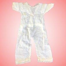 "14"" Antique One piece Doll Undergarment Pantaloons"