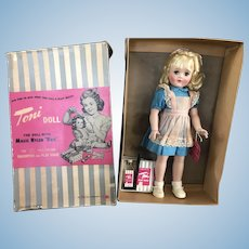 Gorgeous Mint P-93 Ideal Toni Doll All Original Wrist tag and Box 1950's
