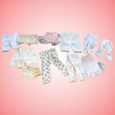 Lot of Antique and vintage doll Pantaloons and panties
