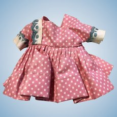 Nancy Ann Muffie Doll Original Dress 1950's Pink