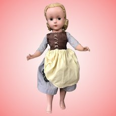 "Madame Alexander Poor Cinderella Hard Plastic 1950's 14"""