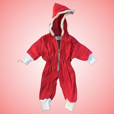 Vintage Doll Snowsuit with zipper tagged Dolly Togs by Mayfair