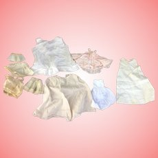 Lot of antique and vintage Doll Petticoats and half slips