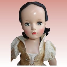 "20"" Madame Alexander Hard Plastic Snow White doll Beautiful! Tagged"