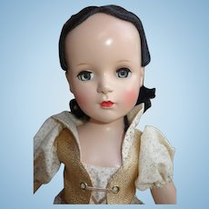 "20"" Madame Alexander Hard Plastic Snow White doll Beautiful! Tagged"