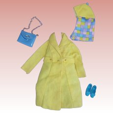 Vintage Barbie Sears Exclusive Yellow Go Outfit 1967
