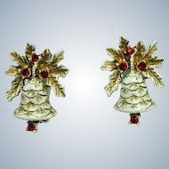 Dodds Christmas Bells Brooch and Earring Set