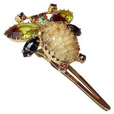 Bumble Bee Rhinestone Accessory Clip Signed Continental