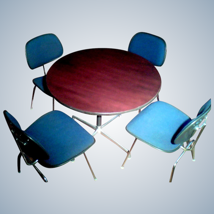 Herman Miller Eames Chairs Dining Set
