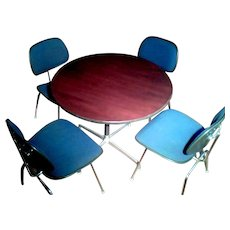 Herman Miller Eames Aluminum Group Table, DCM Chairs
