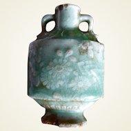 18C Chinese celadon porcelain snuff bottle