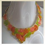 Vintage Brightly Coloured Enamel Necklace