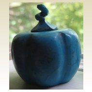 Early 20C Unusual Turquoise Pumpkin Shaped Snuff Bottle
