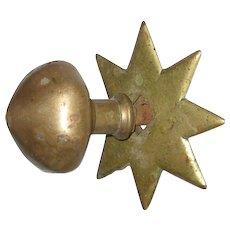 Star Shaped Brass Doorknob