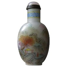 18C Qianlong Painted Enamel Glass Snuff Bottle