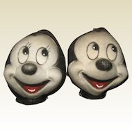 1930s/40s Mickey & Minnie Mouse masks