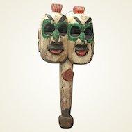 19C Chinese Hand-held Mask
