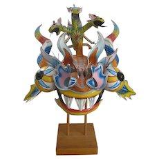Vintage Bolivian Devil Helmet Mask