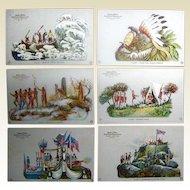 Six Hudson-Fulton Celebration Postcards 1909