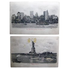 Genuine: Two hold-to-light postcards circa 1910
