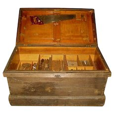 Fine Old New England Carpenters' Tool Chest