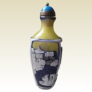 19C Peking glass carved snuff bottle.