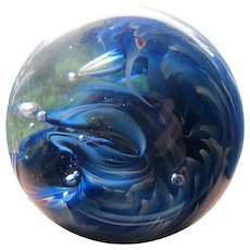 Glass Waves Paper Weight