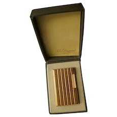 Genuine 1960s, 20 Micron, Gold Plated, S. T. DuPont Lighter