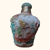 18C Famille Rose Fisherman's snuff bottle