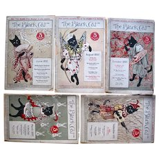 Seven Original Black Cat Magazines, 1897