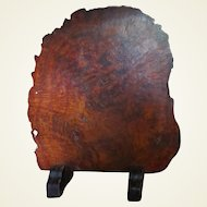 Very Large Early 19C Japanese Burl Wood Fireplace Screen