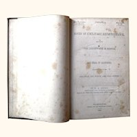 Senate Document of a Reconnaissance made in 1846-1847 from Fort Leavenworth to San Diego. W.H. Emory