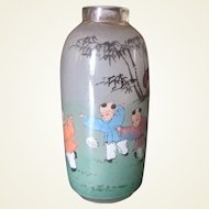 Nice old FLOATER snuff bottle, inside painting.