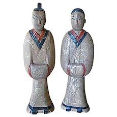 19C Han style funerary figures