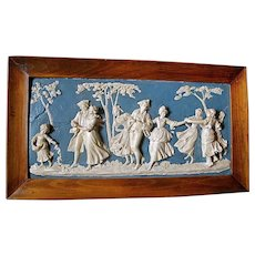 English plaster relief of 19C figures.