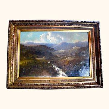 Scottish Highlands. 19C oil painting.