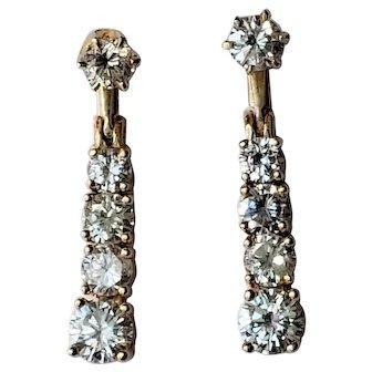14K 2.44tcw Diamond Stud & Jacket Dangle/Drop Earrings